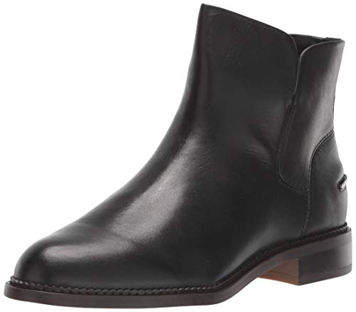 Franco Sarto Women's Happily Ankle Boot, Black Leather, 9 M US