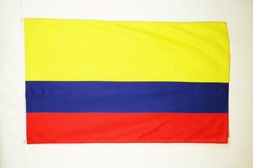AZ FLAG Flagge KOLUMBIEN 90x60cm - KOLUMBIANISCHE Fahne 60 x 90 cm - flaggen Top Qualität