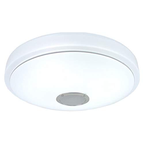 Fransande - Plafón LED con altavoz y control, plafón de música inteligente RGB, 24 W, con contra, apP 3000-6000 K