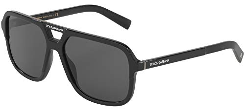 Dolce & Gabbana 0DG4354 Gafas de sol, Black, 58 para Hombre