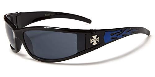 SDK SUNGLASSES - Gafas de sol - para hombre Negro Black/Blue/Black Lens Talla única