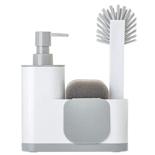 VIGAR Monobloc - Set di lavello, 4 pezzi, colore: bianco, 350 mm, Plastica, grigio