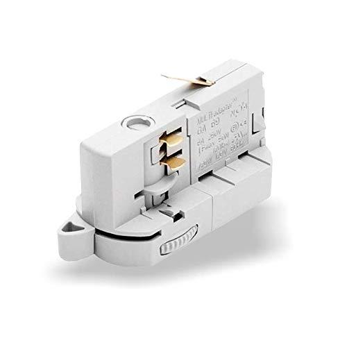 MULTI-adapter Universaladapter GA69 für 3-Phasen Stromschienen zur Leuchtenabhängung/Strahlerumbau | versch. Ausführungen. (Weiß)