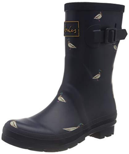Joules Women's Rainboots Rain Boot, Navy Ducks, 8
