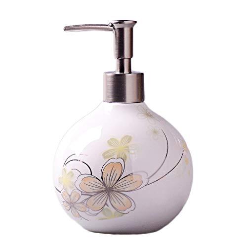Distributeur de Savon 550 ML en céramique créatif Distributeur de Savon Manuel Savon Douche Gel ménage ménage Salle de Bain shampooing Distributeur de Savon (Color : C)