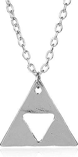duoyunxiayu Collar Collar Metal Triángulo Colgante Collares Joyería Cadena de eslabones Largos Charm Collier Gift