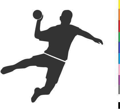 generisch Handball Aufkleber in 10cm, 15cm, 20cm oder 25cm Handball Sport Aufkleber Sticker als Autoaufkleber oder Wandtattoo in vielen Farben (255/1) (Silbergrau Glanz, 10cm)