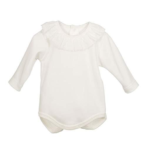 CALAMARO - Bodi Cuello PLUMETI bebé-niños Color: Crudo Talla: 18 Months