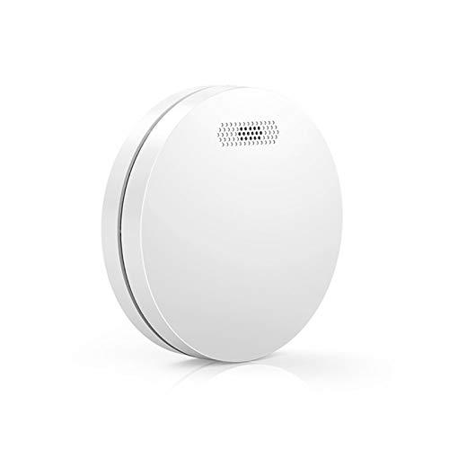 Alarma inteligente de humo de fuego WiFi, mini detector de humo, sonido inalámbrico de humo y sensor de alarma de luz, sensor de alarma de humo, alerta de voz para seguridad en el hogar Fuego de incen