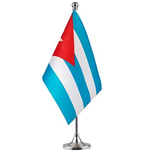 GentleGirl.USA Cuba Flag Cuban Flag Table Flag,Desk Flag,Office Flag,International World Country Flags Banners,Festival Events Celebration,Office Decoration,Desk,Home Decoration