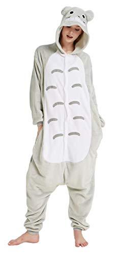 Dorliki Pijama Unisexo Trajes de Dormir Animal Disfraz Cosplay Halloween Navidad Mono con Capucha Totoro XL