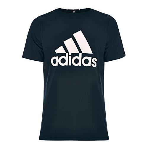 adidas M FR LG T T-Shirt, Black/White, XX-Large Mens