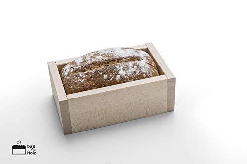 bax im Holz Brot-Holzbackrahmen aus naturbelassenem, massivem Buchenholz für leckeres, selbstgebackenes Brot einfach