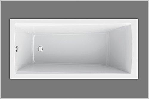 Baignoire rectangulaire en acrylique 160 x 75 cm Blanc