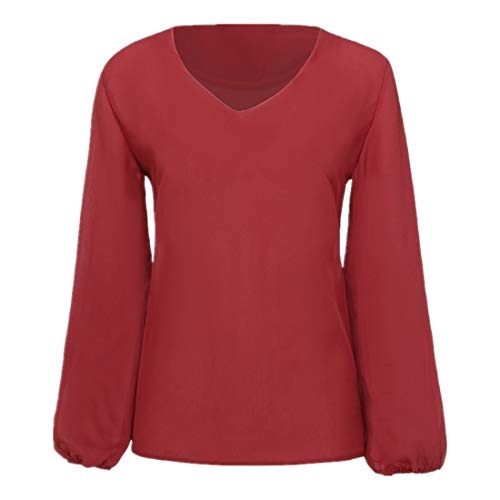 Pullovers Damen Shirt Damen Sexy V-Ausschnitt Baumwollmischung Lässig Mode Lose...