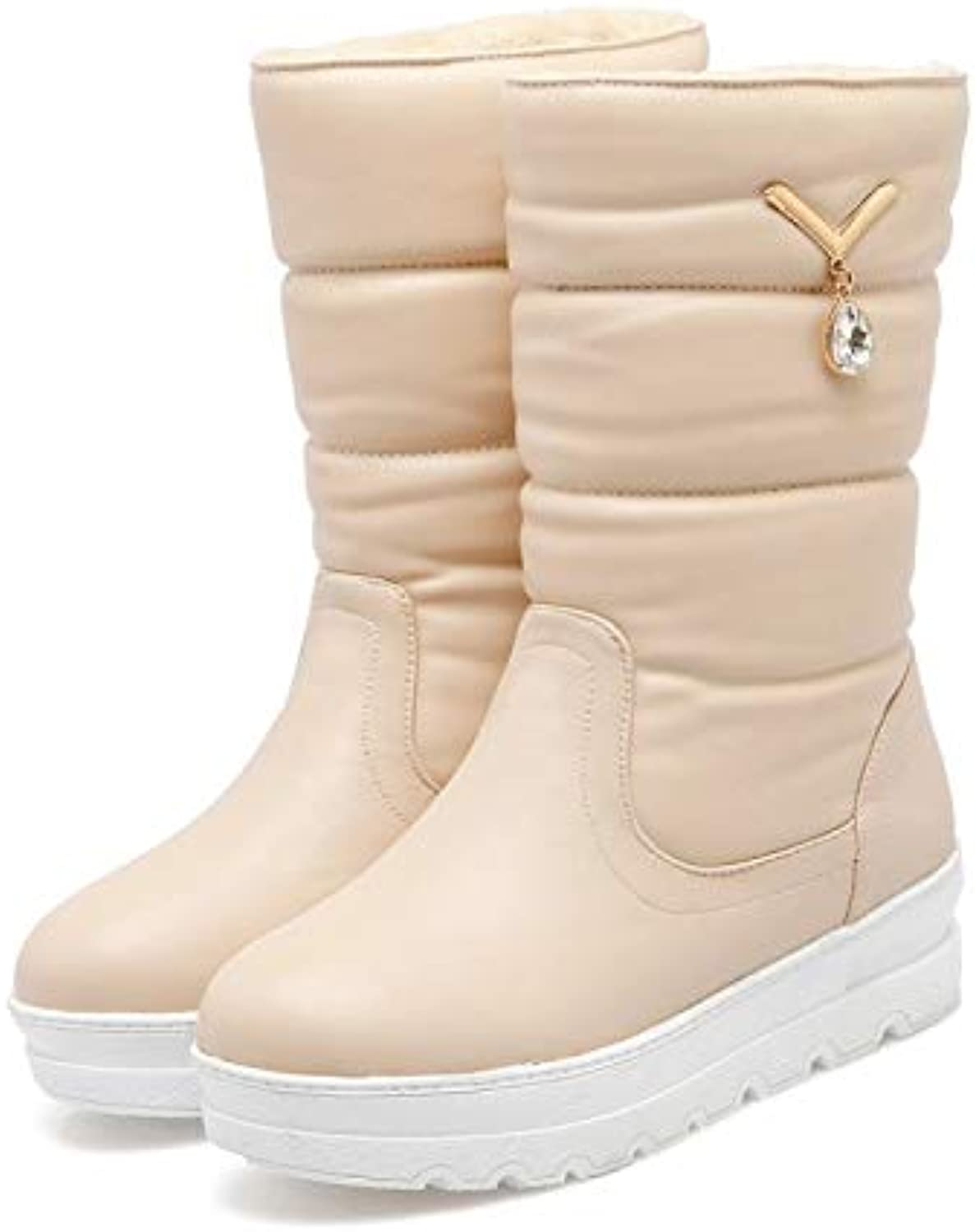 fbe47efe79a12 Women's Snow Boots Ladies Winter Plush Women's Boots Crystal ...