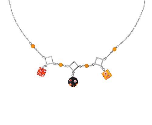 Orphelia Jewelry Damen-Halskette mit Anhnger 925 Sterling Silber natrlichen Elementen 42cm ZK-2584