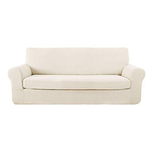 Deconovo Funda para Sofá Prodector del Mueble 4 Plazas 237 x 83 x 89 cm Blanco