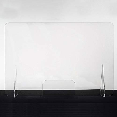 Mampara mostrador low cost modelo Belfast 1 | Mampara metacrilato transparente 2mm grosor | Mampara separadora protección anticontagios horizontal