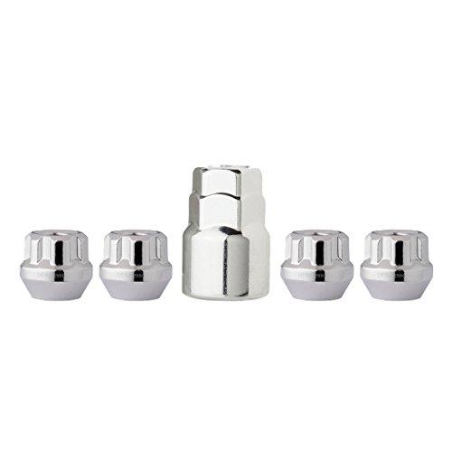 Chrome Wheel Locks 12x1.5 Open End Bulge Acorn 19mm & 13/16' Locking Lug Nuts
