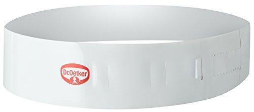 Dr. Oetker Tortenring  Ø20- Ø27cm, Küchenhelfer aus Kunststoff, stufenlos verstellbar, perfekt geeignet für Schichttorten, einfaches und bequemes Entfernen, (Farbe: weiß), Menge: 1 Stück