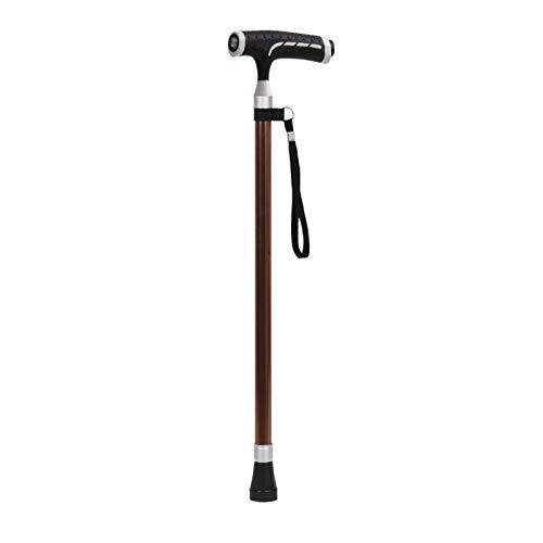RongWang Mango En T Ajustable Muletas Negras Aleación De Aluminio Trekking Bastones De Trekking Hombres Y Mujeres Muletas para Discapacitados Ancianos (Color : Brown)