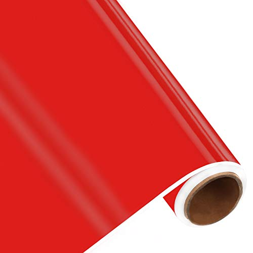 BELLE VOUS Vinylfolie Selbstklebend Rot - 30cm x 3 m - Permanente Plotterfolie zum Basteln und Dekorieren Klebefolie Scrapbooking Schablonen Cameo Stanzformen und Fahrzeugaufkleber Plotter
