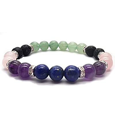 This beautifully crafted aromatherapy bracelet is designed to promote healing of the mind, body, and soul. This healing bracelet is designed to help relieve the pain of headaches, provide healing from migraines, help with weight loss motivation, and ...