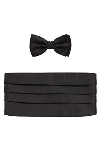 BOSS Herren Set bow tie+cumm. Set mit Fliege und Kummerbund aus Seiden-Jacquard