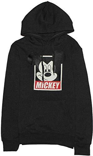 Disney Sudadera con Capucha de Mickey Mouse Hombre Gris Gris Oscuro L