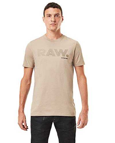 G-STAR RAW Mens 3D RAW. Logo Slim T-Shirt, lt Rock 336-3000, L