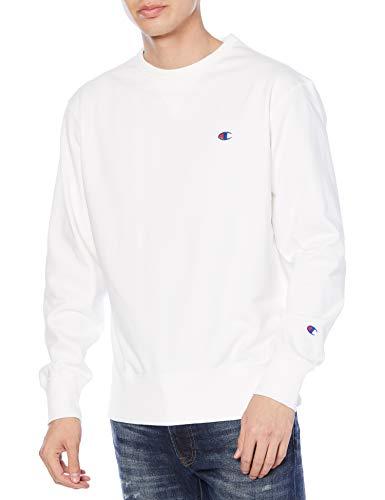 [チャンピオン] スウェット 軽量 ワンポイントロゴ クールネックスウェットシャツ メンズ スポーツ C3-LS050 ホワイト XS