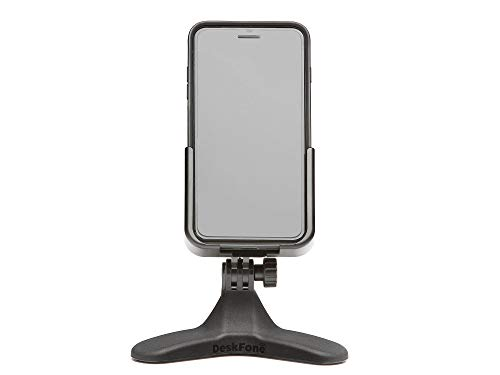 WeatherTech DeskFone Cell Phone Stand for Desk, Home Office Accessories, Desktop Phone Holder Mount for iPhone, Smartphones