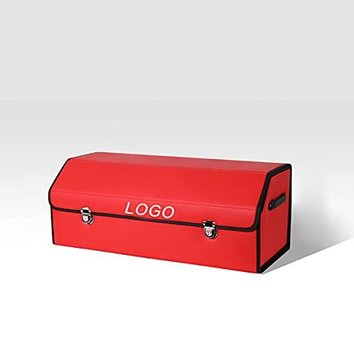 Faltbare Kofferraumtasche aus PU Leder für Ford Escape, Mit Logo, Kofferraum Organizer Auto, wasserdichte Aufbewahrungstasche mit Deckel