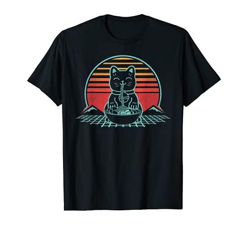 Cat Ramen Kawaii Retro Shirt