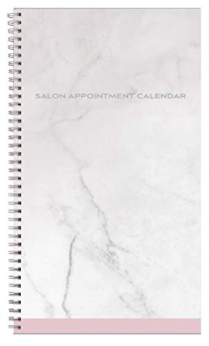 Diane Salon Appointment Book – 6 Column Daily Schedule Planner Calendar, 8am to 9pm Client Scheduler for Hair Stylists, Nail Salons, Barbers, Spas, 374