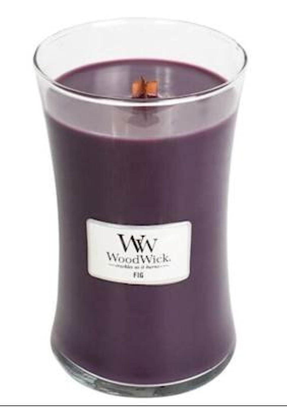 もっともらしい無し昨日Fig?–?WoodWick 22oz Medium Jar Candle Burns 180時間