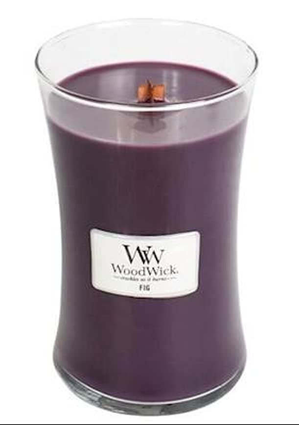 原油トイレ抜本的なFig?–?WoodWick 22oz Medium Jar Candle Burns 180時間