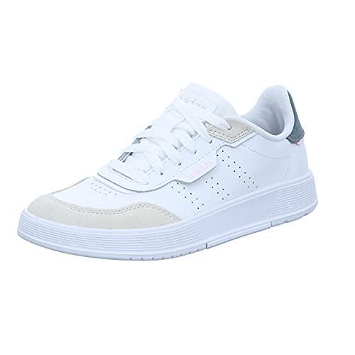 adidas COURTPHASE, Zapatillas de Tenis Mujer, FTWBLA/FTWBLA/ALUMIN, 39 1/3 EU