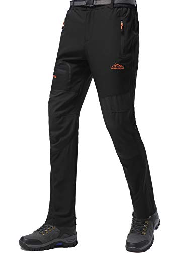 DAFENP Pantaloni Trekking Uomo Softshell...
