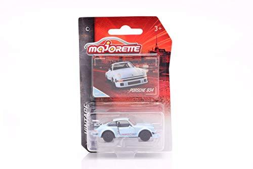 Majorette 212052010Q02 Vintage Porsche 934 - Auto giocattolo a ruota libera, parti da aprire, 1:64, 7,5 cm, blu per bambini dai 3 anni in su