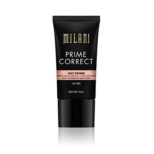 Milani Prime Correct Face Primer - Diffuses Discoloration + Pore-Minimizing - Light/Medium (0.85 Fl. Oz.) Vegan, Cruelty-Free Face Makeup Primer to Color Correct Skin & Reduce Appearance of Pores