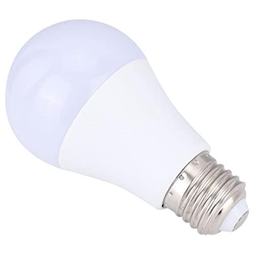 Uxsiya Bombilla LED con sensor de radar, fácil de instalar para porches, pasillos, garajes (luz blanca, 9 W)