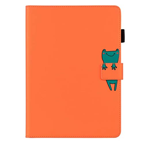 Case for iPad Air 10.5' (3rd Gen) 2019 / iPad Pro 10.5' 2017 Case, Slim PU Leather Cartoon Animal Folio Tablet Case Smart Cover Shockproof Multi-Stand with Auto Wake/Sleep Back Protective Shell Orange