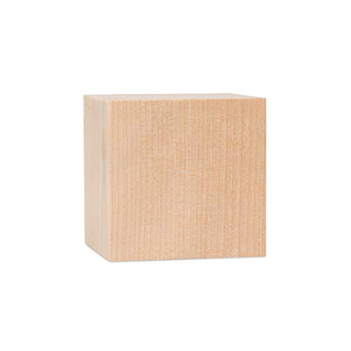 1.5 Inch Wooden Cubes, Bag 10 Unfinished Plain Square Wooden Blocks, Baby Shower Decorating Blocks, for Puzzle Making…