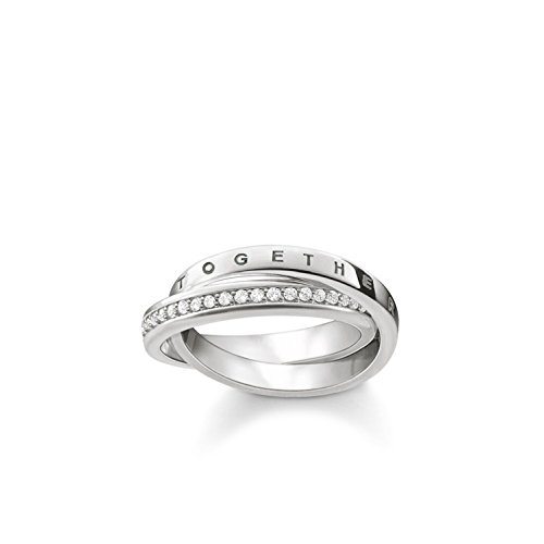 Thomas Sabo Damen-Ring Glam & Soul TOGETHER FOREVER 925 Sterling Silber Größe 52 TR2099-051-14-52
