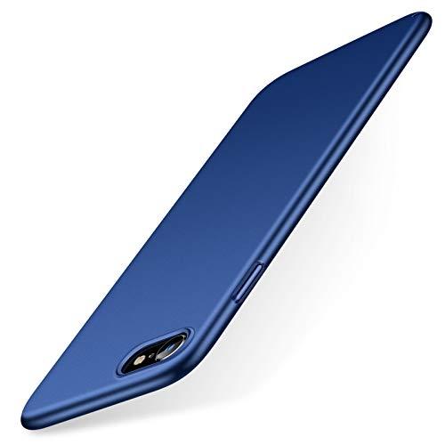 TORRAS Ultra Dünn für iPhone SE 2020/8/7 Hülle mit Panzerglas [1 Hülle + 1 Panzerglas] Slim Hülle für iPhone SE Hülle/iPhone 8 Hülle/iPhone 7 Hülle Handyhülle für iPhone 7/8/SE 2020 - Blau