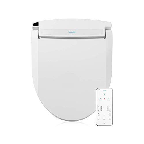 Brondell LT99 Swash Electronic Bidet Seat LT99, Fits Round Toilets, White – Lite-Touch Remote, Warm Water, Strong Wash Mode, Stainless-Steel Nozzle, Saved User Settings & Easy Installation, LT99