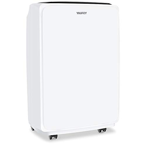 yaufey 30 Pint Dehumidifiers for Home and Basements in Space up to 1500 Sq Ft, with Continuous or Manual Drainage,Intelligent Control