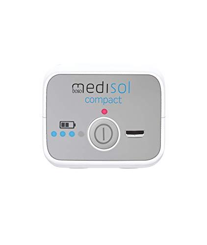 boso medisol compact – Mobiler, elektrischer Tiefeninhalator mit Zubehör & Transporttasche – Akku-Inhalator für Erwachsene & Kinder